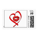 Heart Kiss Postage Stamp