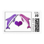 Kissing Dolphins Postage Stamps